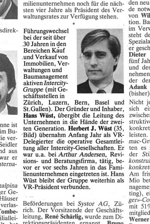 Handelszeitung, 1987